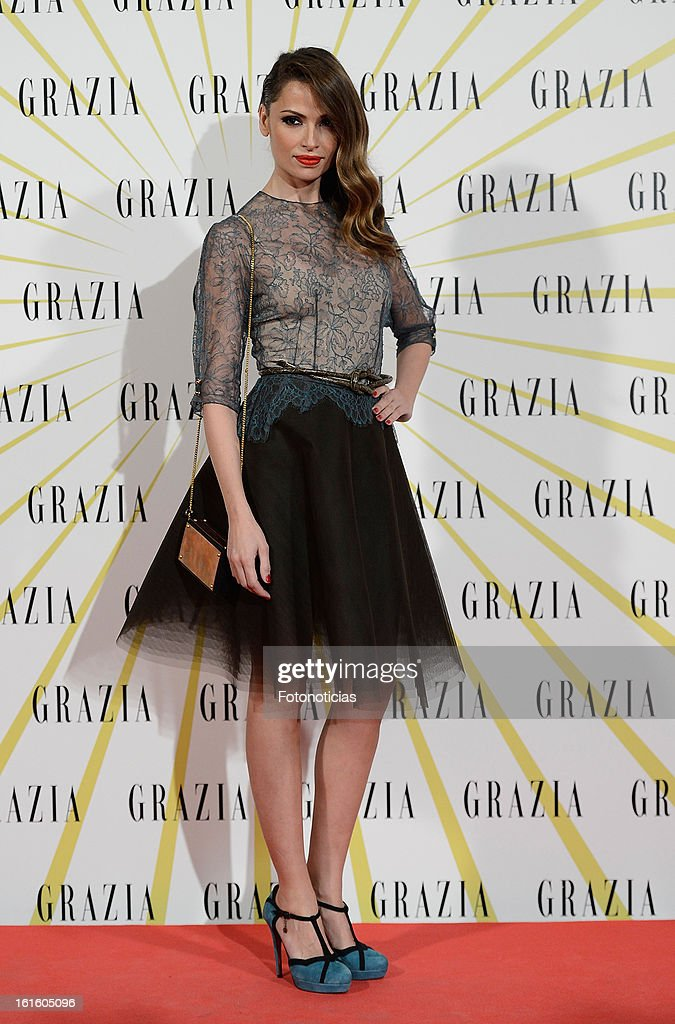 Almudena Fernandez attends Grazia Magazine launch party at the Circo Prize Theater on February 12, 2013 in Madrid, Spain.