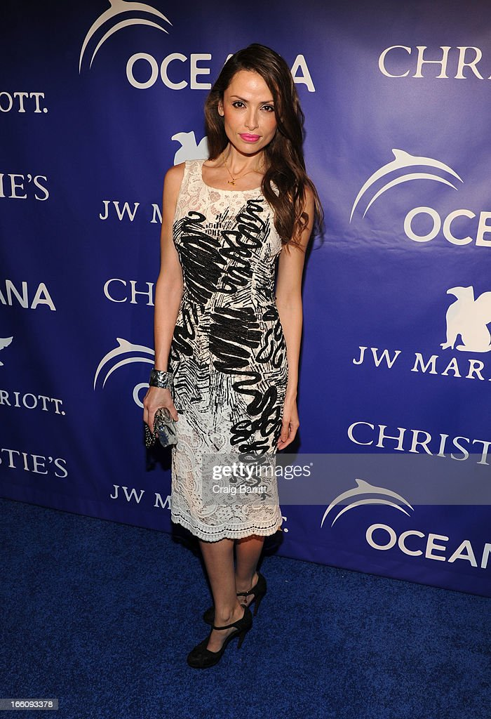 Almudena Fernandez attends The Inaugural Oceana Ball at Christie's on April 8, 2013 in New York City.