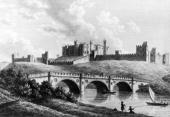 Alnwick Castle seat of the Duke of Northumberland circa 1783 Engraving by W Watts after Lord Duncannon