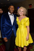 Aloe Blacc and Cam attend Songwriters Hall of Fame 45th Annual Induction And Awards at Marriott Marquis Theater on June 12 2014 in New York City