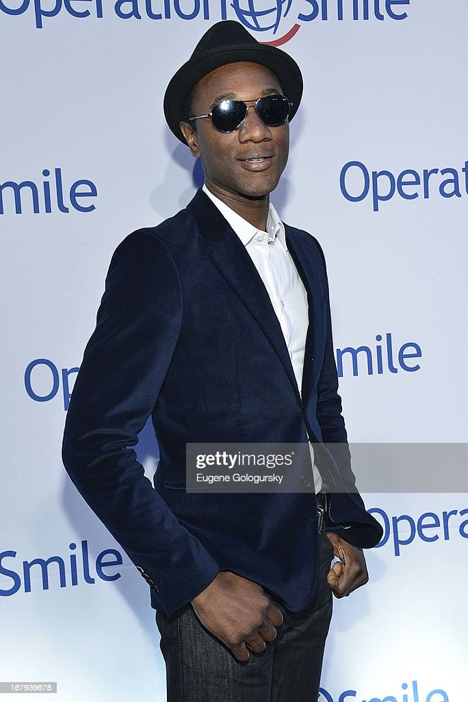 <a gi-track='captionPersonalityLinkClicked' href=/galleries/search?phrase=Aloe+Blacc&family=editorial&specificpeople=4340598 ng-click='$event.stopPropagation()'>Aloe Blacc</a> attends Operation Smile's 30th anniversary celebration at Cipriani 42nd Street on May 2, 2013 in New York City.