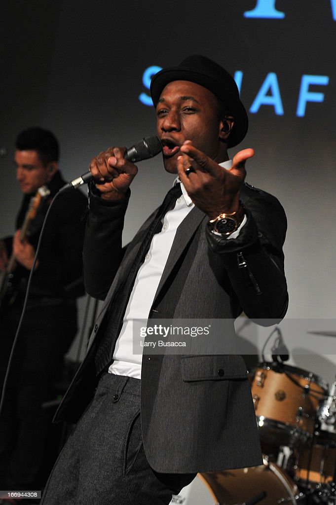 <a gi-track='captionPersonalityLinkClicked' href=/galleries/search?phrase=Aloe+Blacc&family=editorial&specificpeople=4340598 ng-click='$event.stopPropagation()'>Aloe Blacc</a> performs at IWC and Tribeca Film Festival Celebrate 'For the Love of Cinema' on April 18, 2013 in New York City.