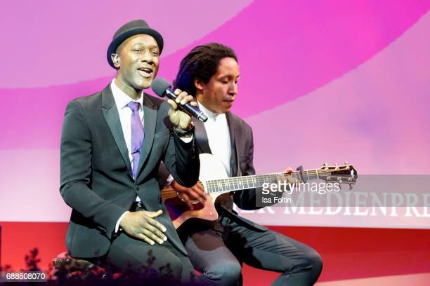 Aloe Blacc performs during the German Media Award 2016 at Kongresshaus on May 25 2017 in BadenBaden Germany The German Media Award has been presented...