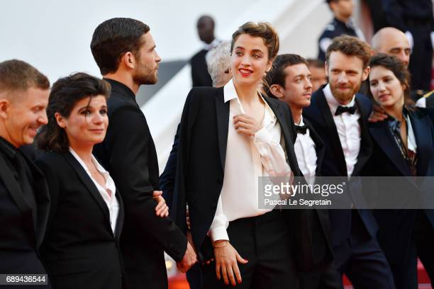 Aloise Sauvage Arnaud Valois Adele Haenel Nahuel Perez Biscayart and Antoine Reinartz attend the Closing Ceremony of the 70th annual Cannes Film...