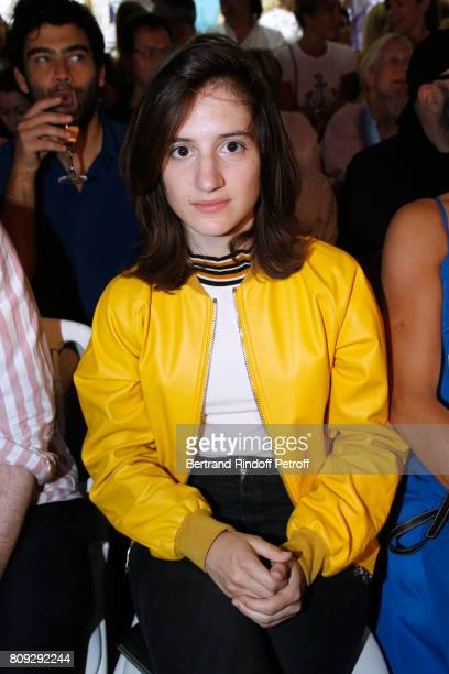 Aloise Sauvage attends the Jean Paul Gaultier Haute Couture Fall/Winter 20172018 show as part of Haute Couture Paris Fashion Week on July 5 2017 in...