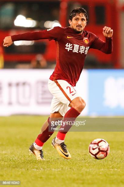 Aloisio dos Santos Goncalves of Hebei China Fortune FC in action during the Chinese Super League match between Tianjin Quanjian FC and Hebei China...