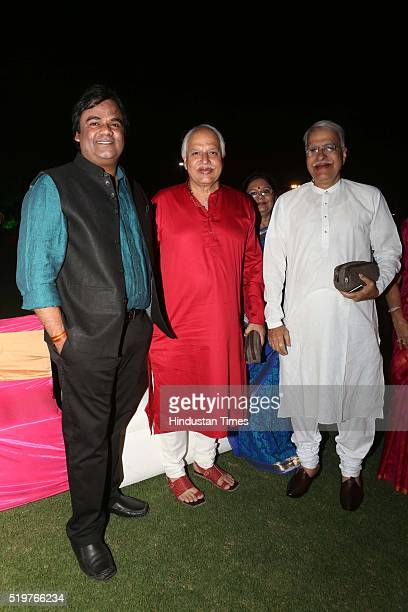 Alok Srivastva Sajan and Rajan Mishra during a party hosted to congratulate singer Malini Awasthi on her recent Padma honour at BSF Officers Mess...