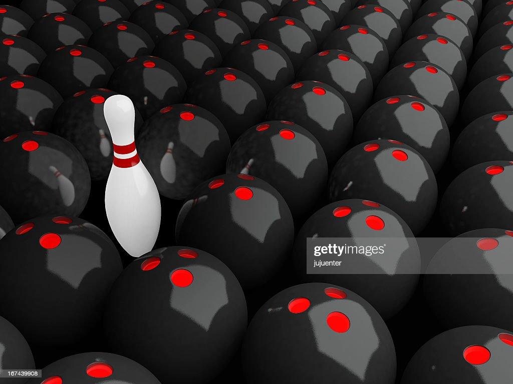 Alone Bowling Pin : Stock Photo