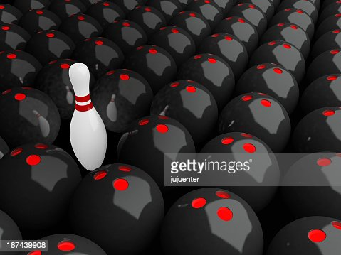 Alone Bowling Pin : Stock Photo
