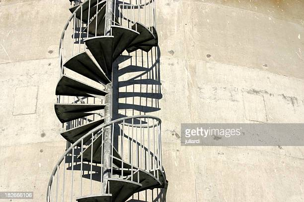 alone helix - winding /  spiral at industrial property