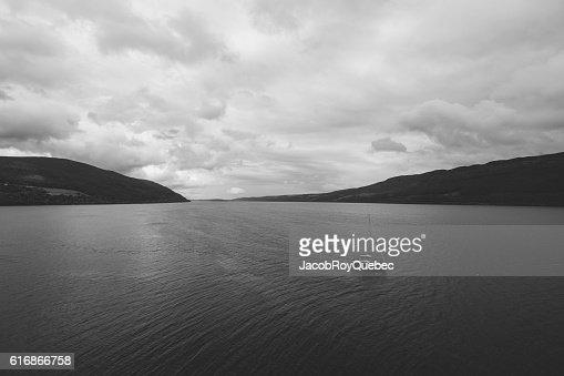 Alone on Loch Ness : Stock Photo