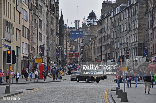 Along the Royal Mile in Edinburgh