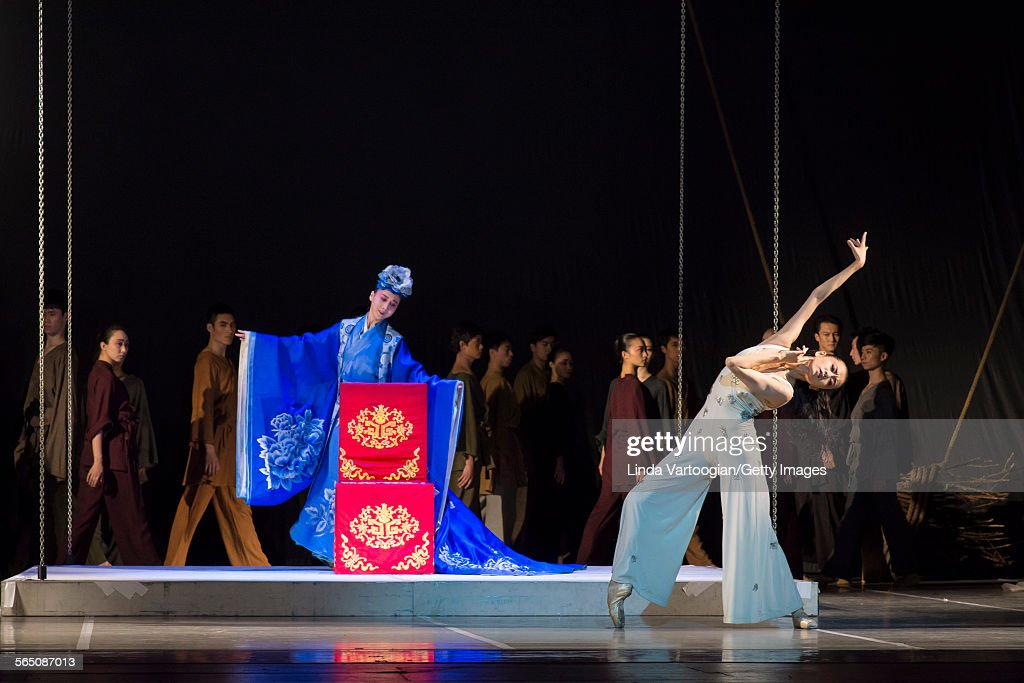 Along with the National Ballet of China ensemble Chinese Kunqu Opera singer Yu Xuejiao and dancer Wang Qimin perform in the American premiere of the...