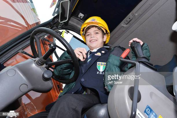 Alonso aged 11 attends the Noah's Ark Children's Hospice event as construction begins of 'The Ark' the first children's hospice building in North and...