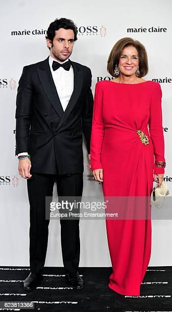 Alonso Aznar and Ana Botella attend the XIV Marie Claire Prix de la Moda Awards at Florida Retiro on November 16 2016 in Madrid Spain