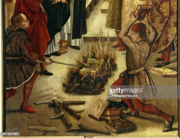 Alonso Berruguete Saint Dominic de Guzman and the Albigensians Oil on wood 122 x 083 m Madrid museo del Prado