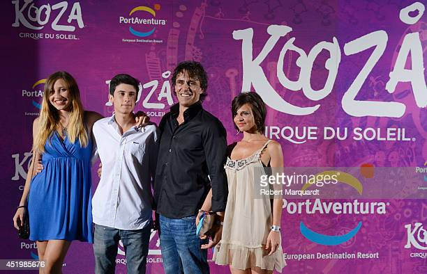 Alonso Caparros poses during a photocall for the premiere of 'Kooza' a Cirque du Soleil production at Portaventura on July 10 2014 in Salou Spain