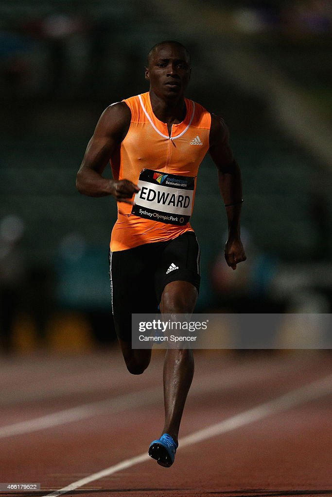 <a gi-track='captionPersonalityLinkClicked' href=/galleries/search?phrase=Alonso+Edward+-+Sprinter&family=editorial&specificpeople=6147378 ng-click='$event.stopPropagation()'>Alonso Edward</a> of Panama competes in the mens 100m final during the Sydney Track Classic at Sydney Olympic Park on March 14, 2015 in Sydney, Australia.