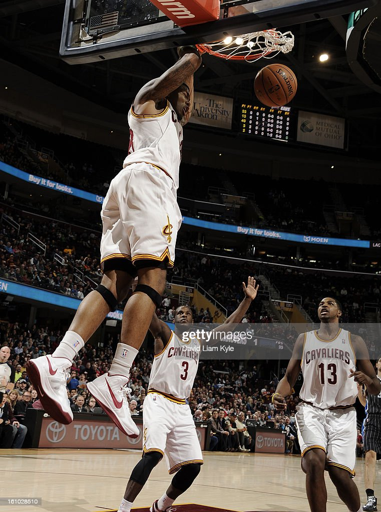 Alonzo Gee #33 of the Cleveland Cavaliers dunks against the Orlando Magic at The Quicken Loans Arena on February 8, 2013 in Cleveland, Ohio.