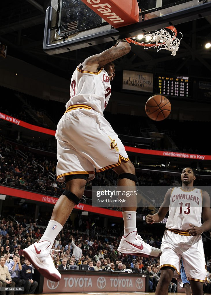 Alonzo Gee #33 of the Cleveland Cavaliers dunks the ball against the Minnesota Timberwolves at The Quicken Loans Arena on February 11, 2013 in Cleveland, Ohio.