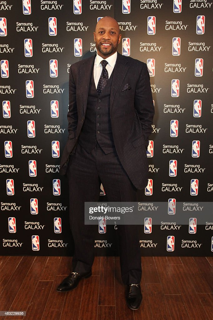 Alonzo Mourning attends the Samsung Galaxy Studio during NBA All Star 2015 on February 11, 2015 in New York City.