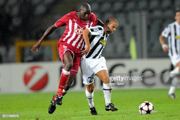 Alou DIARRA / Sebastian GIOVINCO Juventus / Bordeaux Championas League 2009/2010 Stadio Olimpico Turin