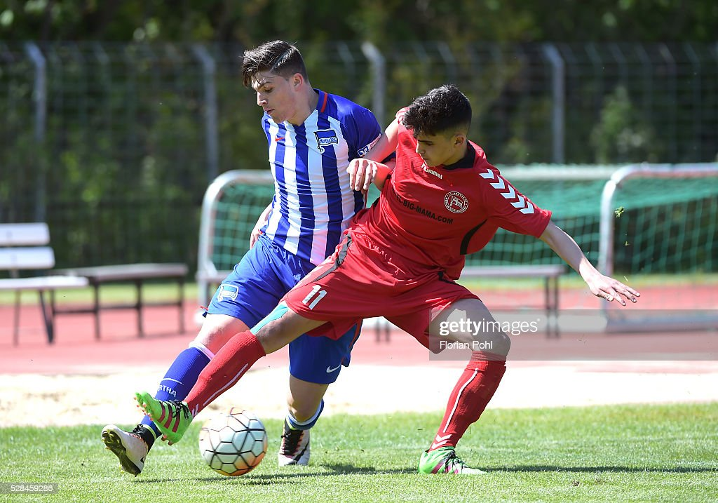 Alper Arslan of FC Hertha 03 During the B-juniors cup match between FC Hertha 03 and Hertha BSC on May 5, 2016 in Berlin, Germany.