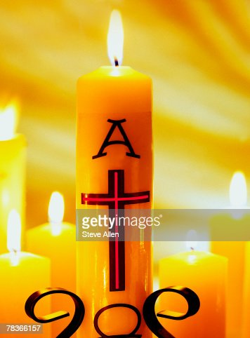 Alpha and Omega candles