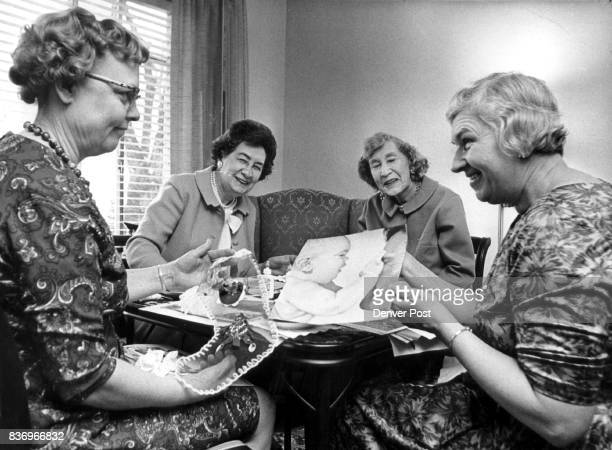 Alpha Chapter Delta Kappa Gamma Prepares Christmas Gifts Mrs Irene Rosengren from left Miss Maud Bowen Miss Beatrice young and Mrs Ruth Rugtwet...