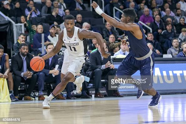 Alpha Diallo Guard for Providence College drives to the basket during the game between the Providence College Friars and the University of New...