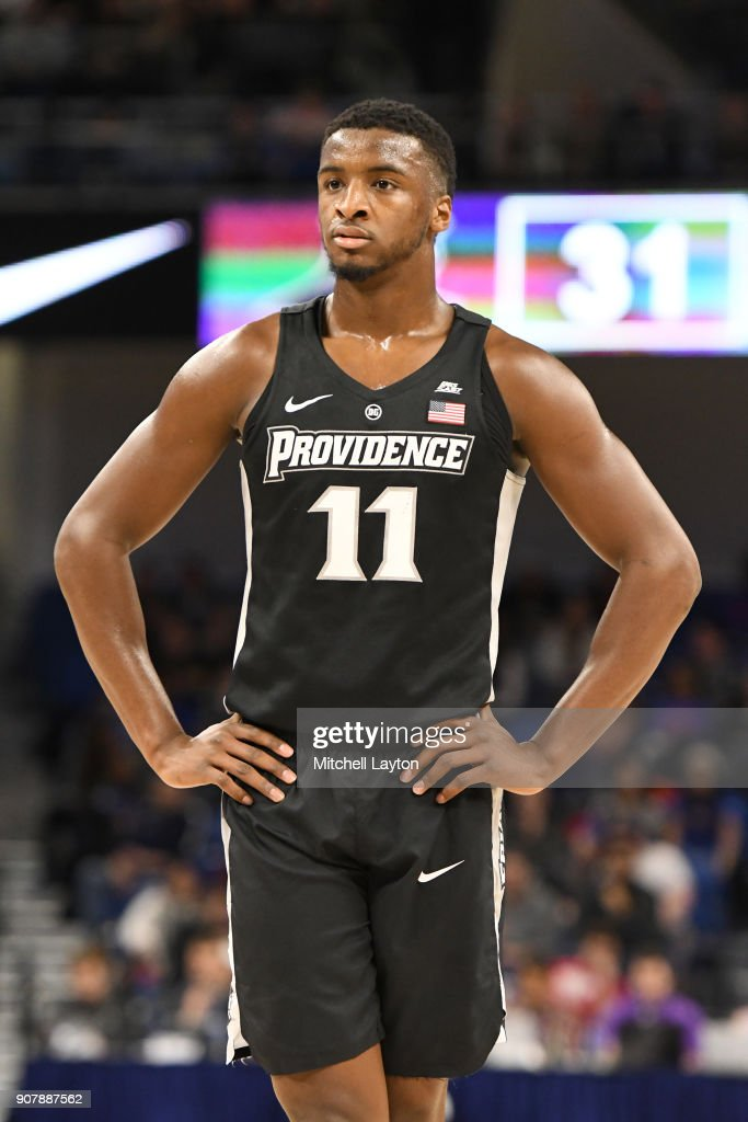 Alpha Diallo #11 of the Providence Friars looks on during a college basketball game against the Providence Friars at Wintrust Arena on January 12, 2018 in Chicago, Illinois. The Friars won 71-64.