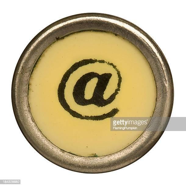 Alphabet - @ At Symbol from old Manual Typewriter.
