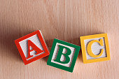 "Subject: ""ABC"" in Toy alphabet blocks."