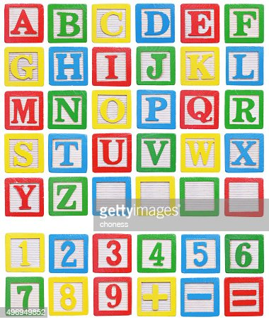 alphabet blocks : Stock Photo