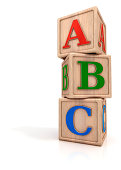 """ABC letters, baby toys, wooden blocks with alphabet letters.Digitally generated image."""