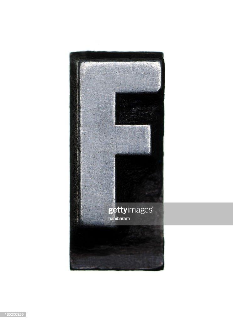 Alphabet F - Letterpress letter