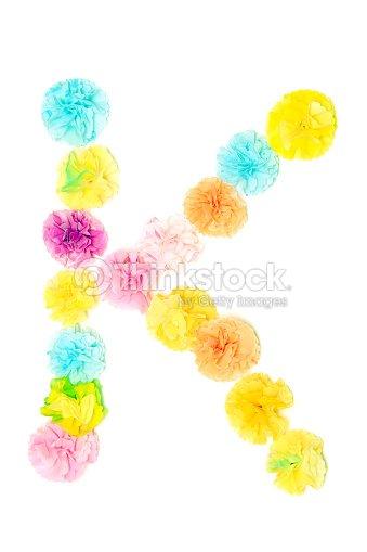 K Alphabet Flowers Made From Paper Craftwork Stock Photo Thinkstock