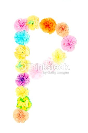 P Alphabet Flowers Made From Paper Craftwork Stock Photo Thinkstock