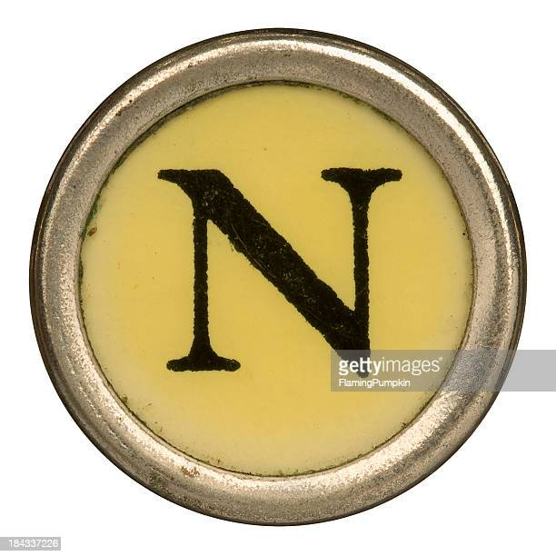 Alphabet - Letter N from old Manual Typewriter.