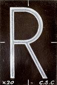 Alphabet letter 'R'