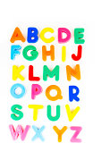 alphabet with  colorfull letters back to school lightbox