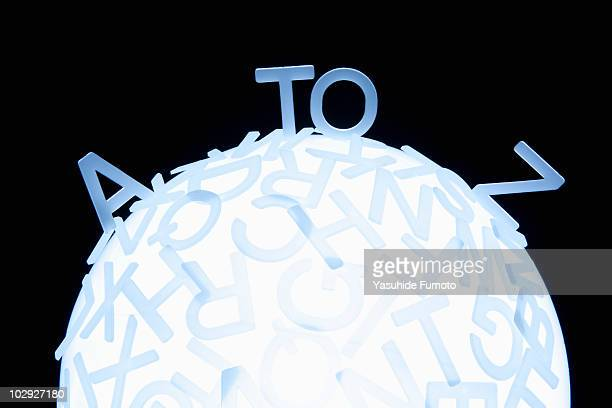 Alphabet on Globe.