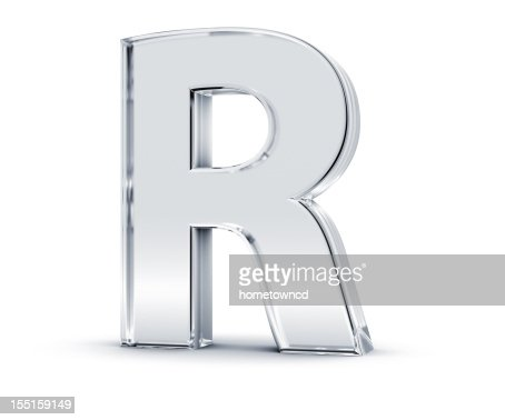 Alphabet R : Stock Photo