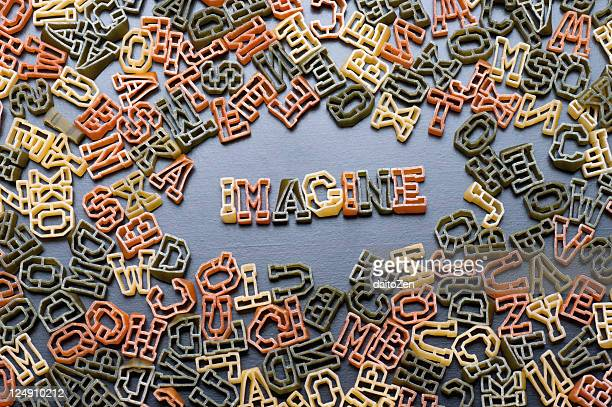 Alphabet soup noodles - Imagine