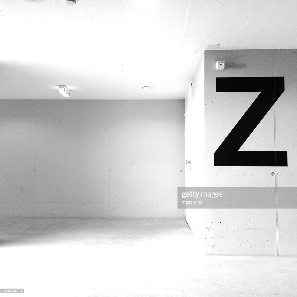 Alphabet Z On Wall