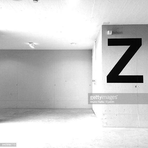 Alphabet Z On Wall