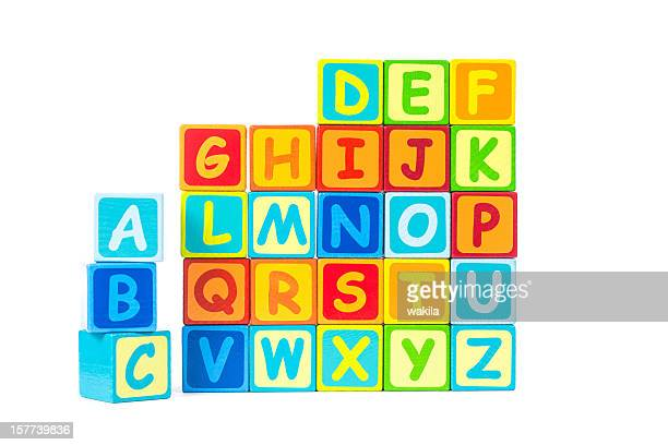 Alphabeth aus bunten Buchstaben