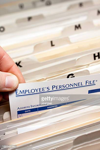 Alphabetical employee personnel files