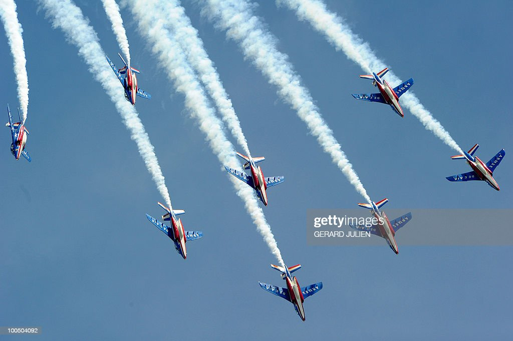 Alphajet aircrafts perform during the 20
