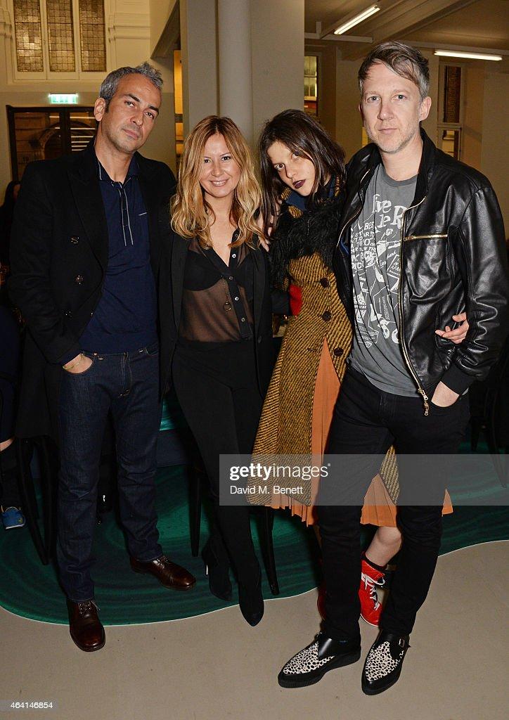 Alphan Eseli Demet Muftuoglu Tati Cotliar and Jefferson Hack attend the Delfina Delettrez London boutique opening dinner during London Fashion Week...